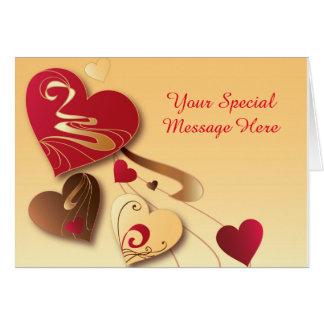 Satin Vanilla Candy Hearts Card