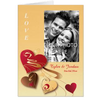 Satin Vanilla Candy Hearts Photo Valentine Card