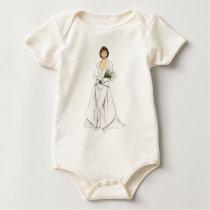 Satin Wedding Pantsuit Baby Bodysuit