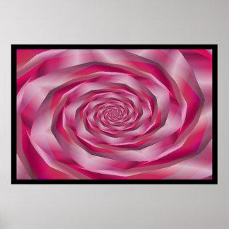 Satin Whirlpool Fractal Print