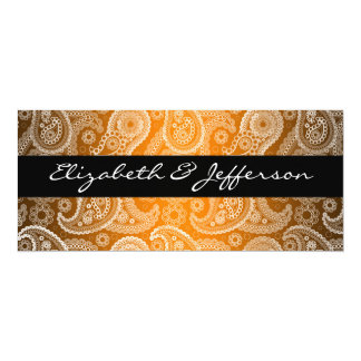 Satin & White Paisley Lace Wedding Invitation