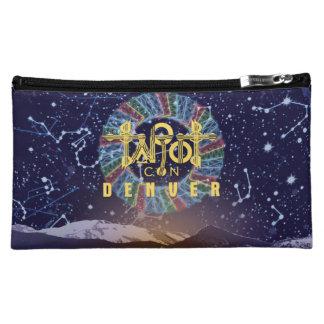 Satin Zip Close Tarot Bag -- Blue Back