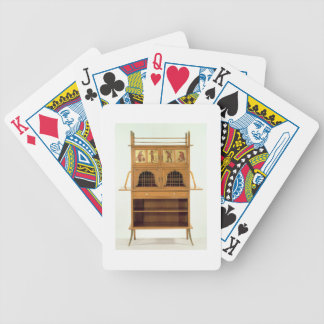 Satinwood Cabinet with Painted Panels, c.1877 (sat Bicycle Playing Cards