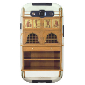 Satinwood Cabinet with Painted Panels, c.1877 (sat Galaxy S3 Case
