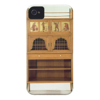 Satinwood Cabinet with Painted Panels, c.1877 (sat iPhone 4 Case-Mate Case