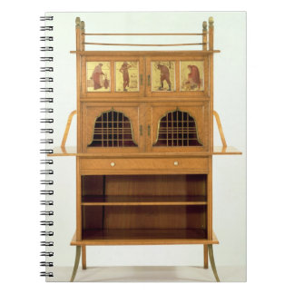 Satinwood Cabinet with Painted Panels, c.1877 (sat Note Books