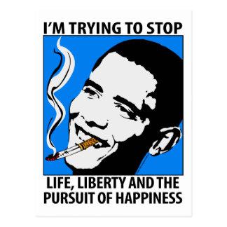 Sátira de Barack Obama/postal de la parodia Tarjetas Postales