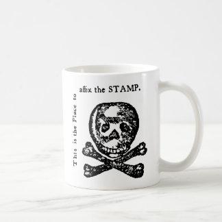 Sátira del acto del sello taza de café