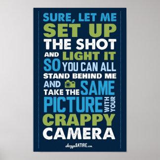 Sátira del Shoppe - humor para los fotógrafos Posters