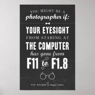 Sátira del Shoppe - humor para los fotógrafos Póster