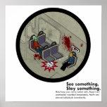 Sátira del subterráneo del metro del zombi del LA Posters