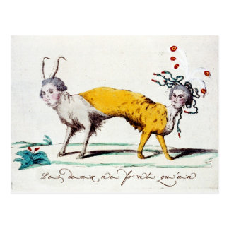 Sátira en Louis XVI y Marie Antonieta Tarjetas Postales