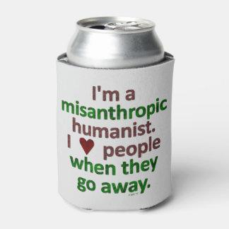 Sátira misantrópica del solitario del humanista enfriador de latas