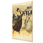 Satire of a salon musical evening stretched canvas print