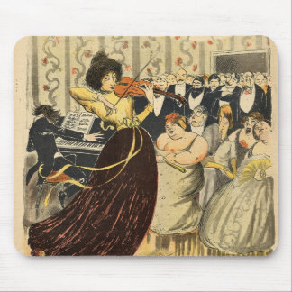 Satire of a salon musical evening mouse pad