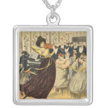Satire of a salon musical evening necklaces