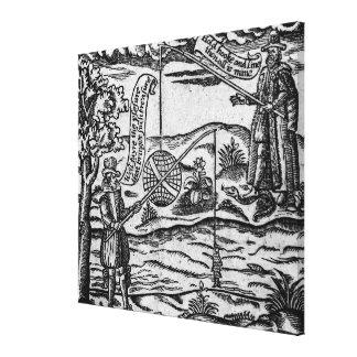 Satire of Fishing, 'A Book Roxburghe Ballads' Canvas Print