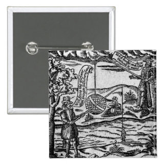Satire of Fishing, 'A Book Roxburghe Ballads' Pinback Button