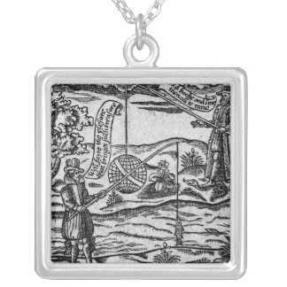 Satire of Fishing, 'A Book Roxburghe Ballads' Silver Plated Necklace