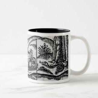 Satire of Fishing, 'A Book Roxburghe Ballads' Two-Tone Coffee Mug
