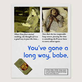 Satirical Anti-Smoking Poster