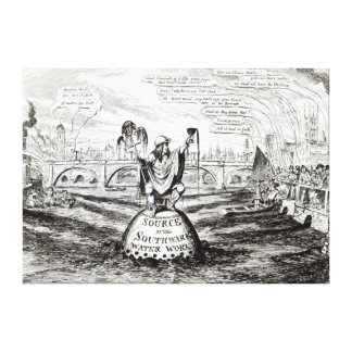 Satirical Cartoon about the Water Company Canvas Print