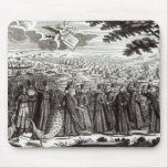 Satirical engraving depicting the Bull Mouse Pad