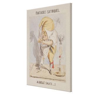 Satirical Fantasies, caricature of Adolphe Canvas Print