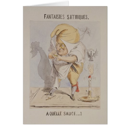 Satirical Fantasies, caricature of Adolphe Card