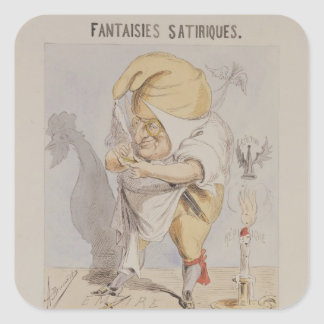 Satirical Fantasies, caricature of Adolphe Square Sticker