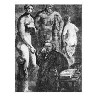 Satirical portrait of Laurence Sterne, c.1761 Postcard