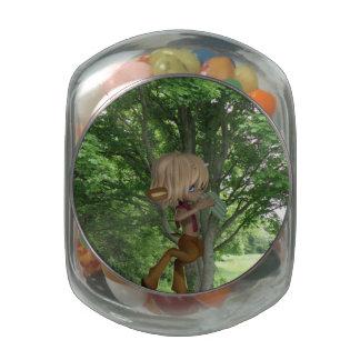 Sátiro aflautado jarras de cristal jelly bely