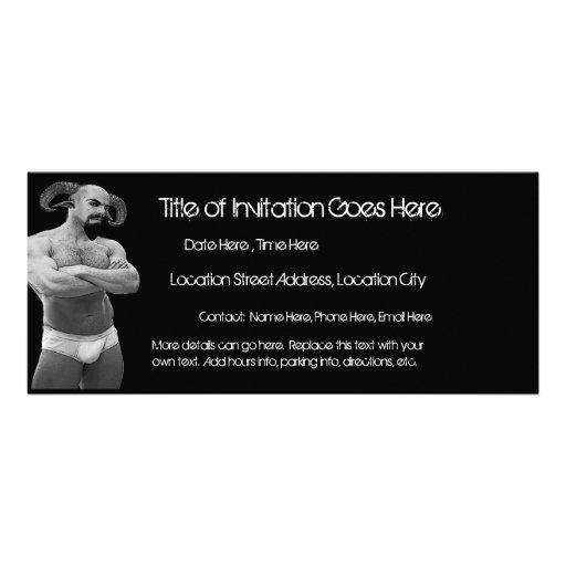 Sátiro en las invitaciones de los escritos II (2-S Invitaciones Personales