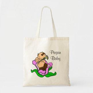 Sátiro pagano del bebé en una flor bolsa tela barata