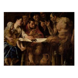 Sátiro y campesino, 1620 postales