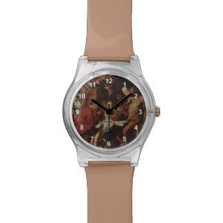 Sátiro y campesino de Jacob Jordaens- Reloj