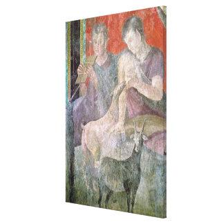 Sátiro y ninfa lienzo envuelto para galerías