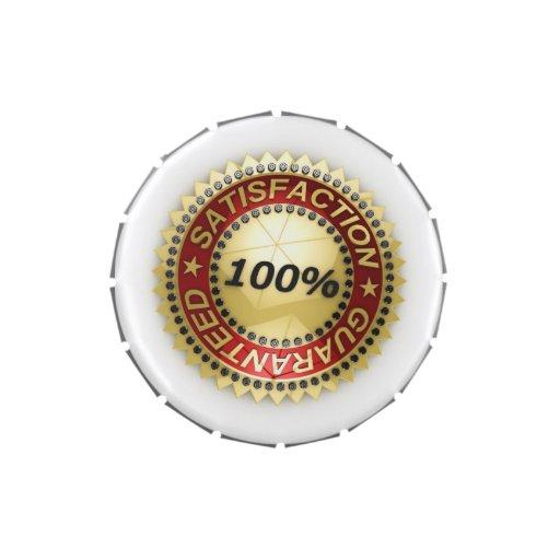 Satisfacción garantizada jarrones de caramelos