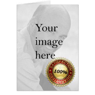 Satisfacción garantizada - tarjeta de felicitación
