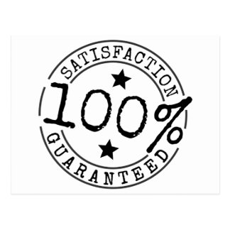 Satisfaction Guaranteed 100% Postcard