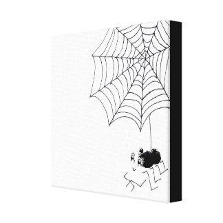 Satisfied Spider Canvas Print