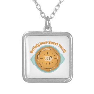 Satisfy Sweet Tooth Square Pendant Necklace