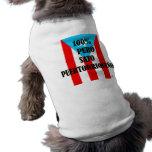 Sato 100% camisa de mascota
