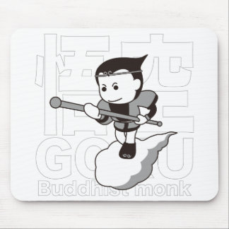 Sato empty black - GOKU Black Version-Buddhist Mouse Pad