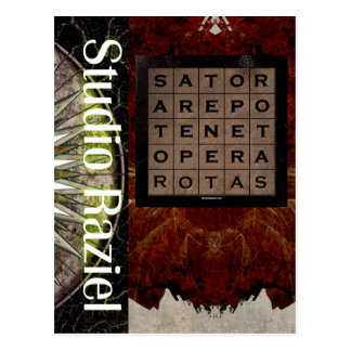 SATOR AREPO Square Postcard