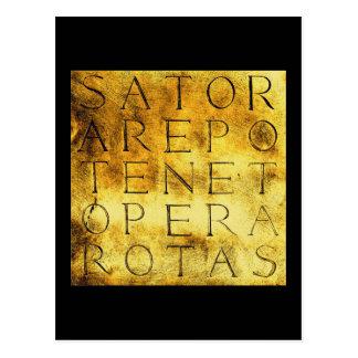 Sator Rotas Ancient Secret Magical Symbol Postcard