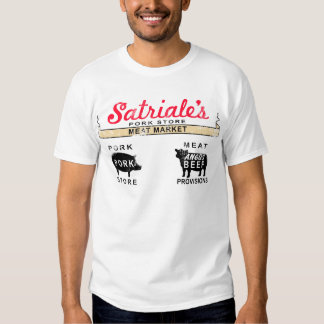Satriale's Meat Market (distressed) Camisas