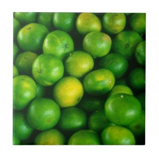 Satsumas/cales/fruta cítrica azulejo cuadrado pequeño