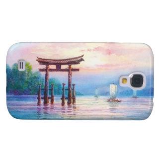 Satta Miyajima Torii and Sailboats japanese art Galaxy S4 Case