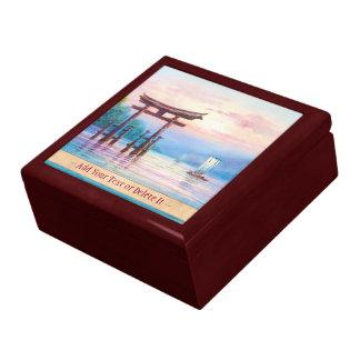 Satta Miyajima Torii and Sailboats japanese art Jewelry Box